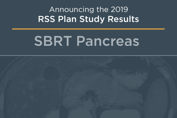 RSS 2019 SBRT Pancreas Plan Study (High Performer Summary)